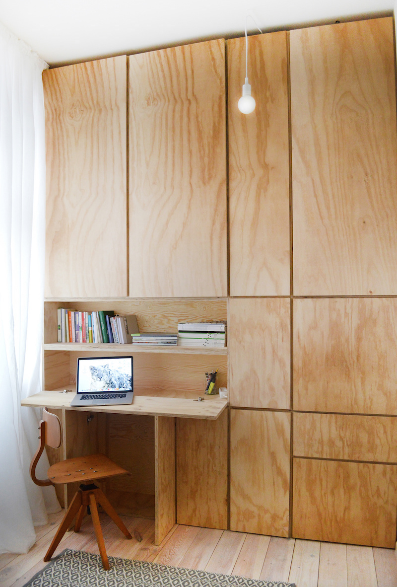how to work from home - space saving fold out desk