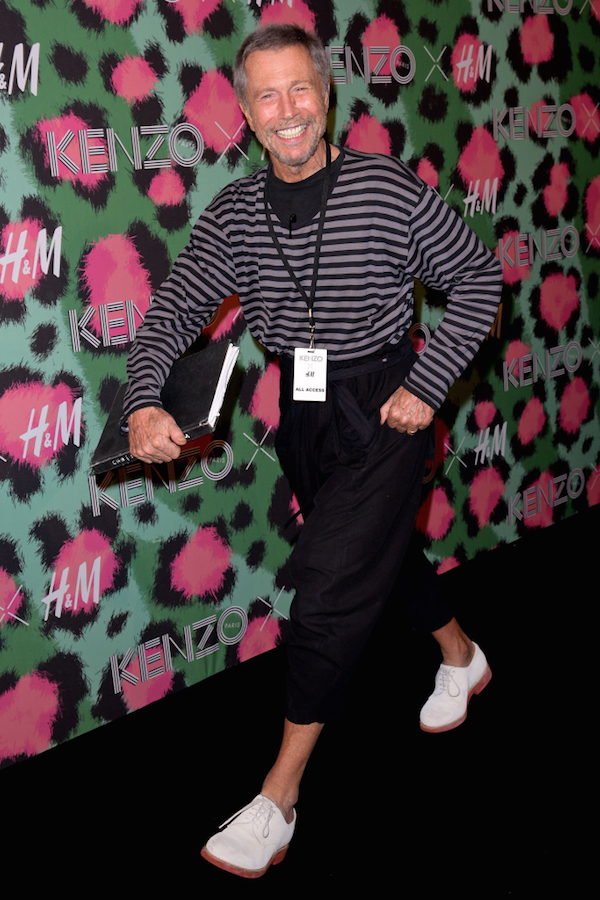 Jean-paul Goude at the Kenzo x H& M Collaboration launch party in New York