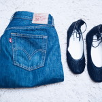 Perfect pairing: Levi's 501s and fancy flats