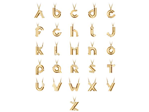 Louis Vuitton initial necklaces