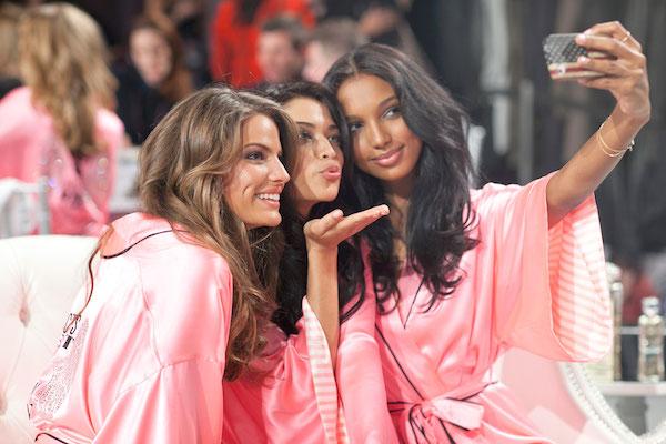 Victoria's Secret angels backstage