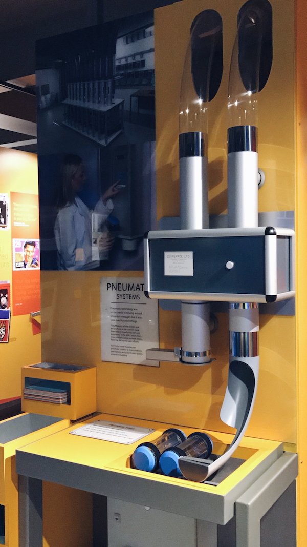 pneumatic system The Postal Museum London 2017