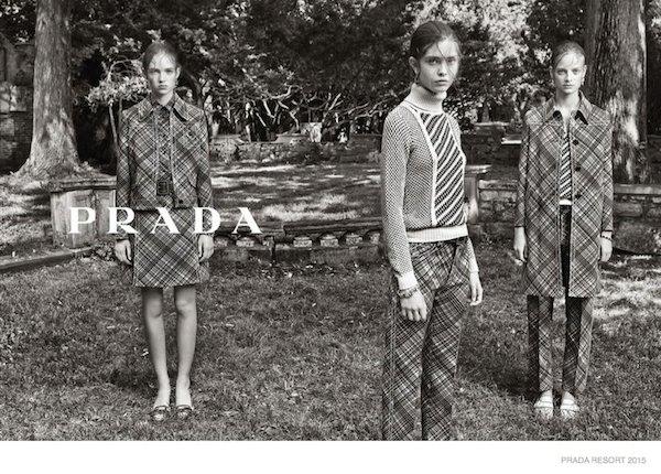 Prada Resort 2015 campaign by Steven Meisel