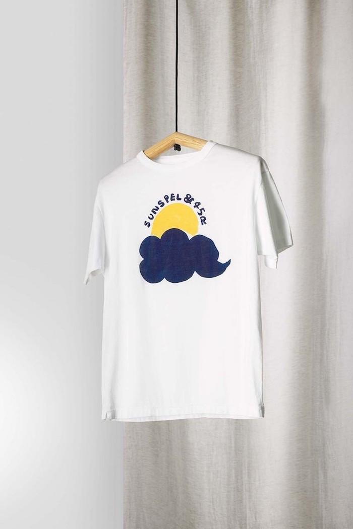 Sunspel 45R sun and cloud tee